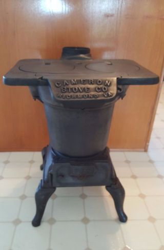 Cast Iron Pot Belly Stove Vintage Includes Cast Iron Kettle photo