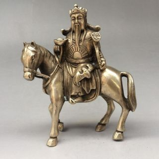 China ' S Hidden Silver Sculpture Is The Statue Of The God Of Wealth At Once photo