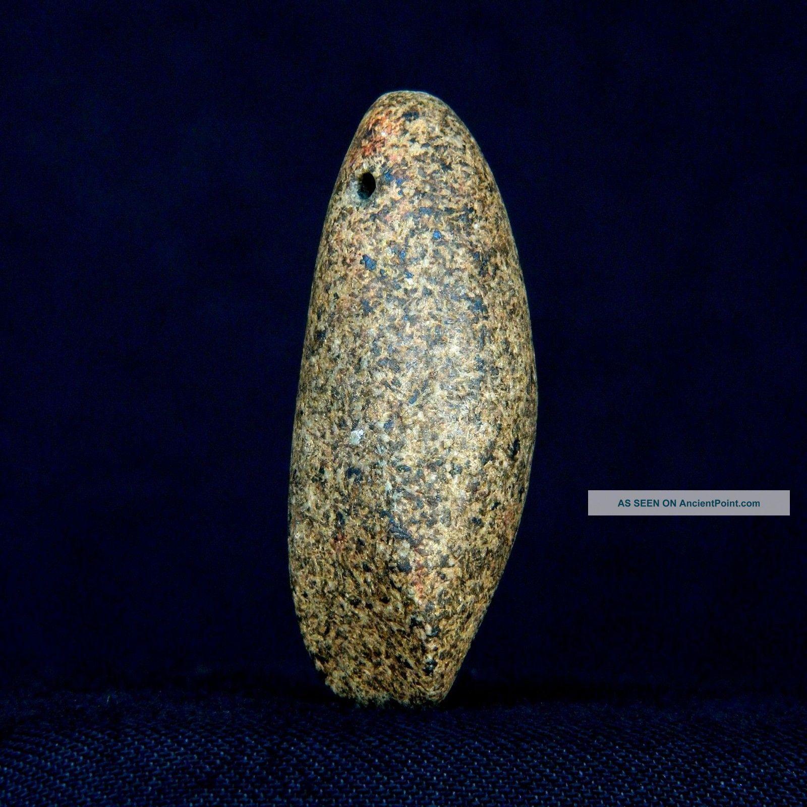 Regular Saharian Neolithic - Granite Votive Axe / Pendant - 49 Mm Long Neolithic & Paleolithic photo