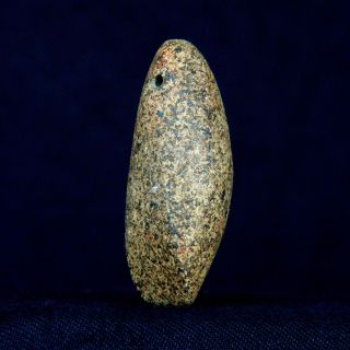 Regular Saharian Neolithic - Granite Votive Axe / Pendant - 49 Mm Long photo