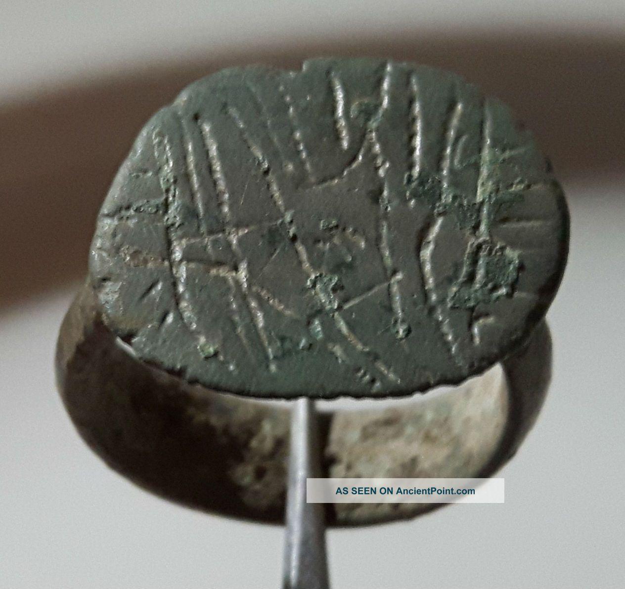 Large Roman Ring Shield Shape Top Roman photo