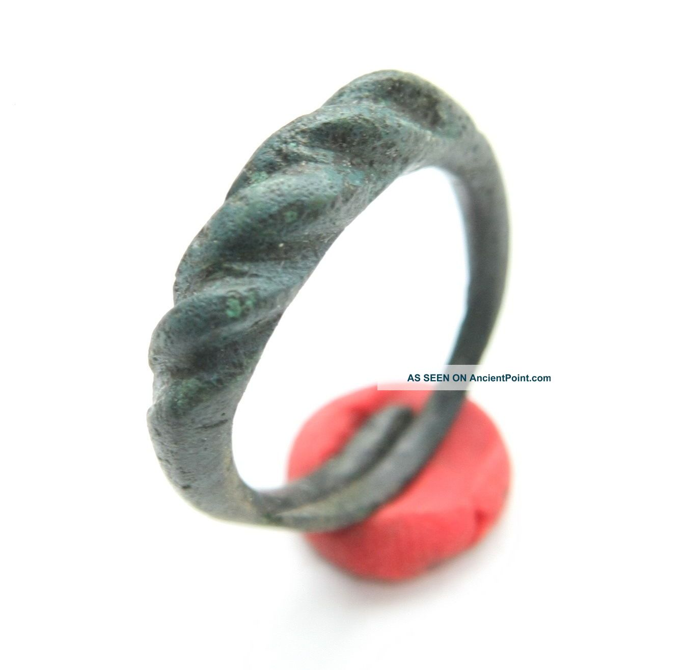 Ancient Viking Pseudo Twisted Bronze Ring  Namejs
