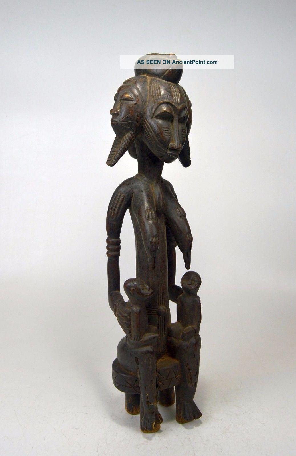 Five Headed Senufo Maternity Sculpture,  African Tribal Art Sculptures & Statues photo