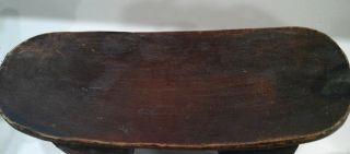 African Wood Stool/headrest photo