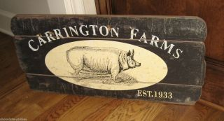 Large Pig Hog Wall Sign Primitive/french Country Farmhouse Farmers Market Decor photo