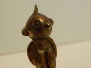 Vintage Hagenauer Bronze Figurine Whw Austria Wein Cartoon Character Or Child photo