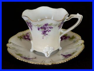 Vintage G.  H.  Small Adult Tea Cup,  Violets photo