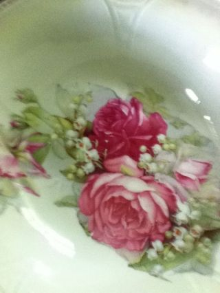Antique Bowl Bulgarian Roses And Lilly Of The Valley photo