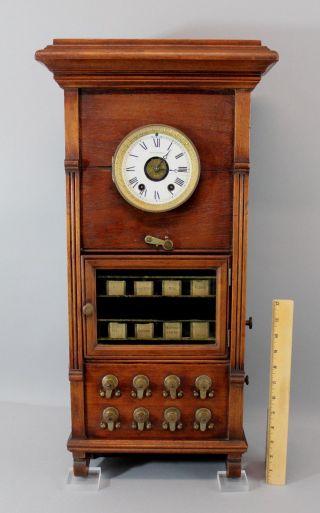 Rare Antique Seth Thomas Style B Hotel Burglar Alarm Wall Clock Nr photo