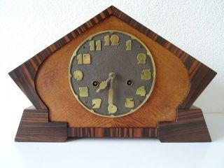 Junghans Antique German Ww2 Württemberg Shelf Mantel Art Deco Clock (hermle Era) photo