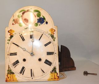 Rare Antique Black Forest 8 Day Shield Clock C 1840 photo