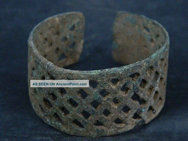 Ancient Bronze Open Work Bracelet Luristan 500 Bc Sg4240 Near Eastern photo