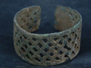 Ancient Bronze Open Work Bracelet Luristan 500 Bc Sg4240 photo