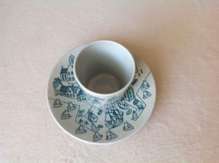 Nymolle Art Faience Horyup Cup & Saucer,  Denmark,  Ltd Ed.  Demitasse Shot Sake photo
