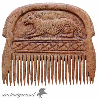 Intact,  Hand Made Carved Post Medieval B0ne Comb photo