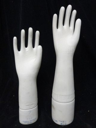(2) - Porcelain Right Hand Glove Molds 13 - 1/2