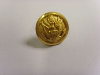 Vintage Usa Great Seal Gold Tone Metal Picture Button City Button 49258 photo