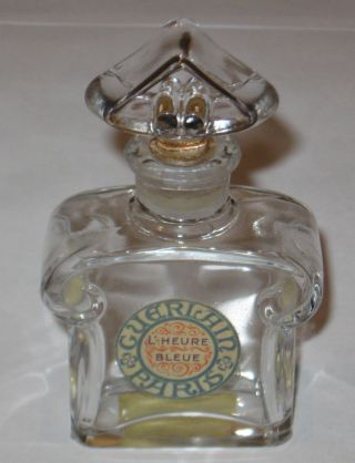 Vintage Guerlain Baccarat Style Perfume Bottle L ' Heure Bleue - 4