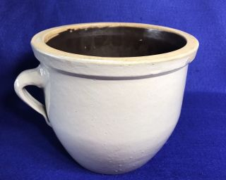 Rare Antique Hawthorn Pa 1 Gal Handled Crock Stoneware Pottery H.  P.  Co photo