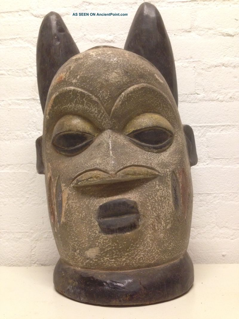 Nigeria: Large Tribal Old And Rare - Yoruba - Head Mask. Masks photo