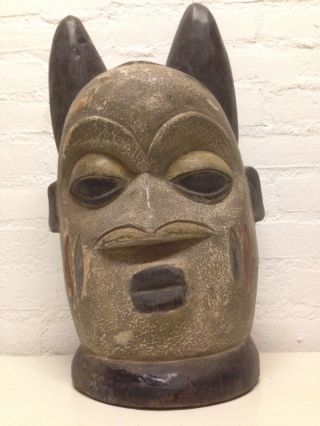 Nigeria: Large Tribal Old And Rare - Yoruba - Head Mask. photo