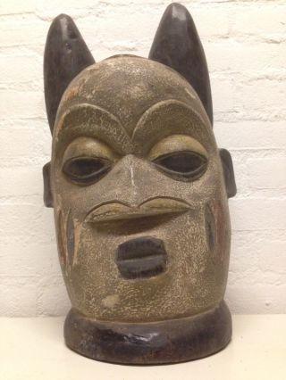 Nigeria: Large Tribal Old And Rare - Yoruba - Head Mask. photo
