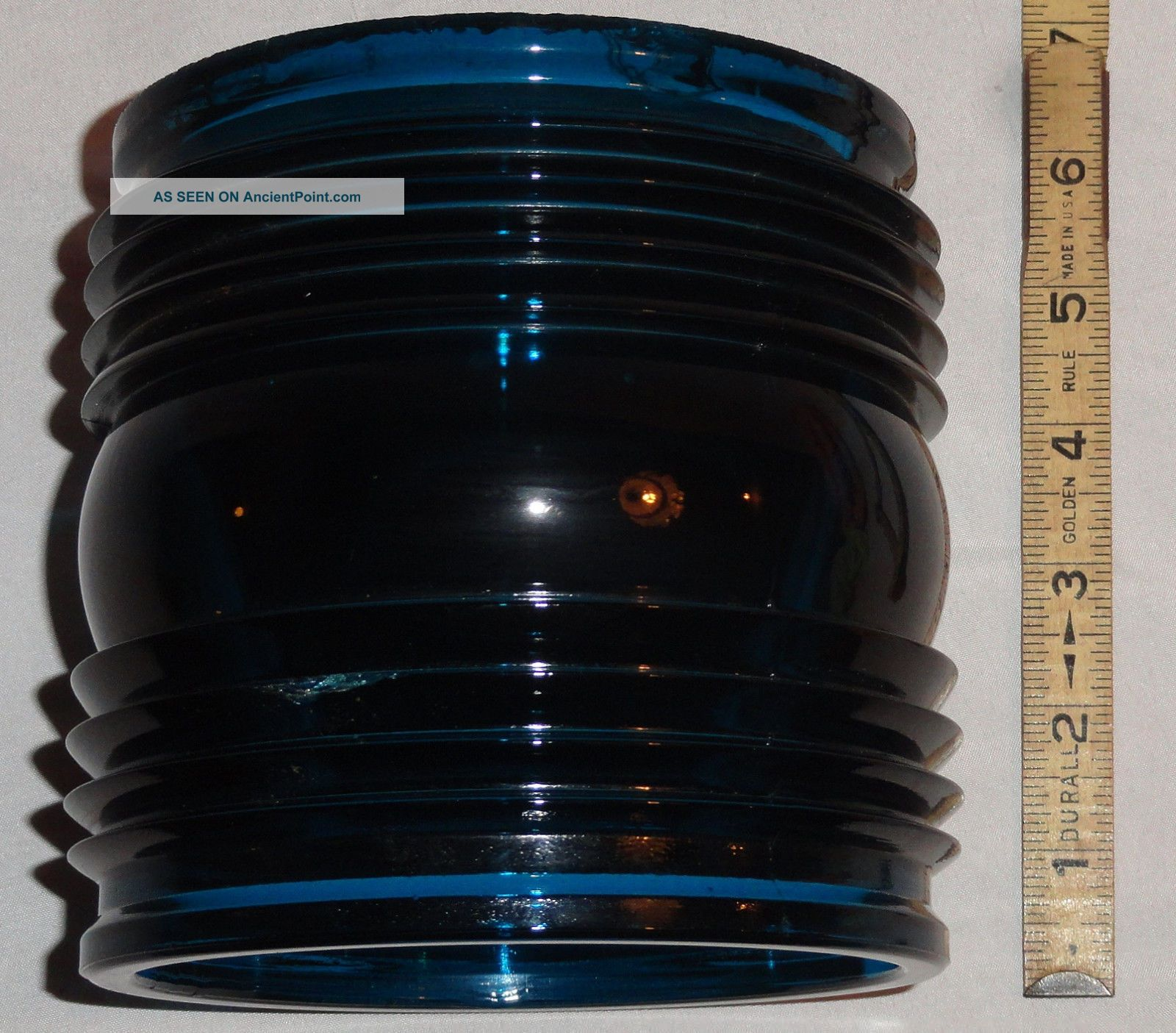 Gtg Blue 1940s Ship Running Light Lantern Fresnel Globe Lens Elco Pt Boat Part Lamps & Lighting photo