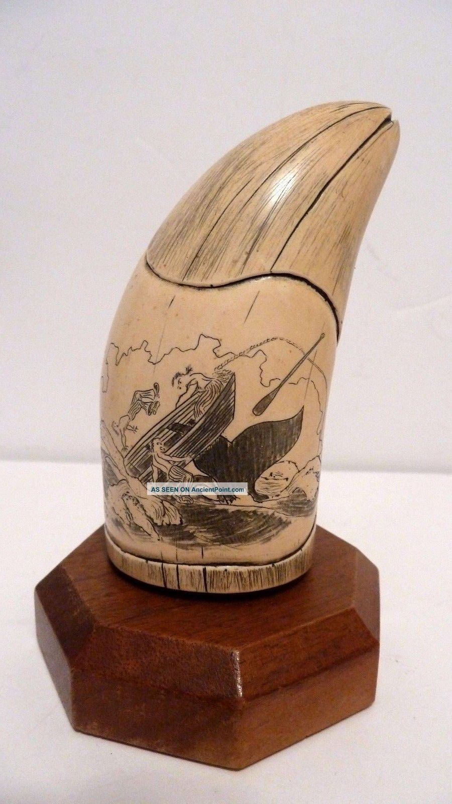 Scrimshaw Whale Tooth Resin Replica