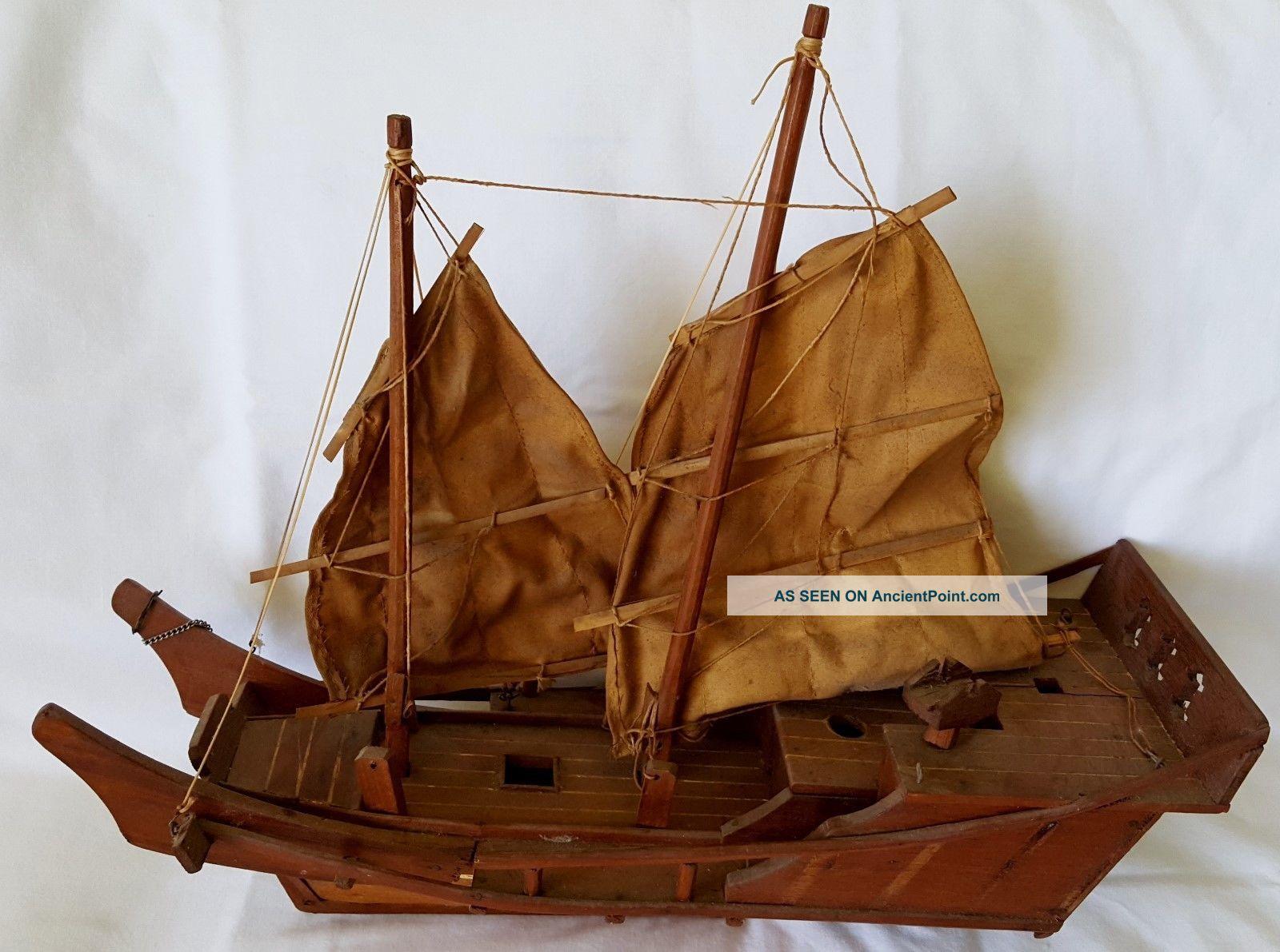Chinese Junk Sailboat Wood 18