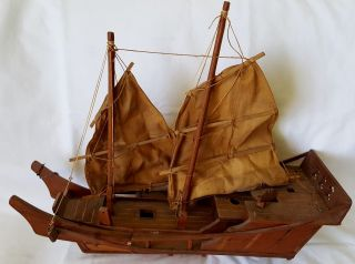 Chinese Junk Sailboat Wood 18
