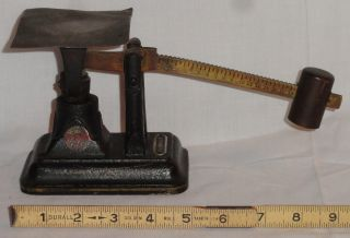 Small Antique Brass Bronze Iron Fairbanks Pa Serial F 16 Oz Ounce Postal Scale photo