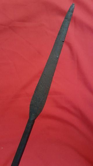 Antique Zulu War Period Spear Assegai South Africa Tribal Wirework photo