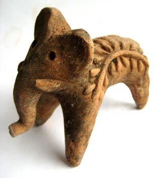 Circa.  1500 B.  C Indus Valley Late Harappan Period Decorative Clay Elephant Statue photo
