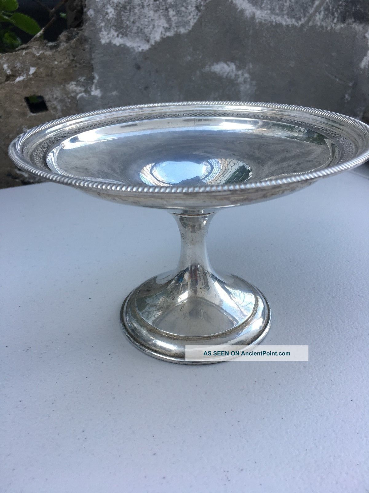 Antique Sterling Silver Candy Dish Platters & Trays photo