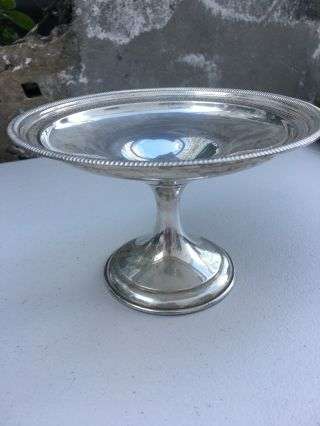Antique Sterling Silver Candy Dish photo