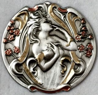 Sterling Overlay Stamped Brass