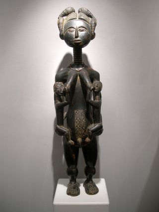 Fine Asante Ashanti Royal Maternity Figure From Ghana Magnificent photo