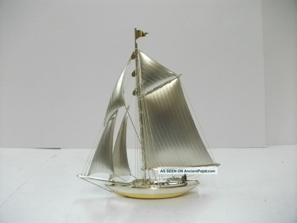 The Sailboat Of Silver970 Of Japan.  105g/ 3.  70oz.  A Japanese Antique. Other Antique Sterling Silver photo