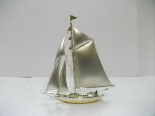 The Sailboat Of Silver970 Of Japan.  105g/ 3.  70oz.  A Japanese Antique. photo