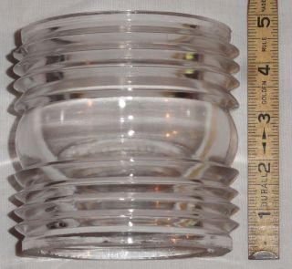 White Mckee Marine Ship Stern All Round Running Light Lantern Fresnel Globe Lens photo