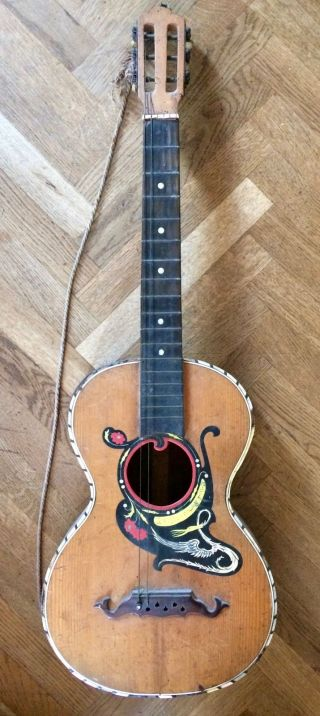 Old Italian Guitar,  Catania About 1910,  Chitarra Antica Liuto Lute photo