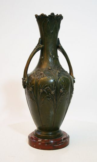 Art Nouveau Vase Bronze Zamak Moreau Jugendstil photo