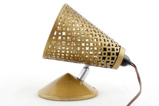A 1950 ' S 60s ' Jet Ace ' Gold Wall/side Light.  Perforated.  Mategot Style Modernist photo