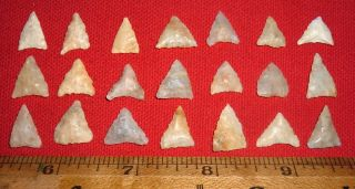 (21) Mini Triangle Sahara Neolithic Points,  Tools,  Prehistoric African Artifacts photo