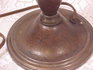 Antique Bradley Hubbard Arts & Crafts Three Socket Lamp Base photo