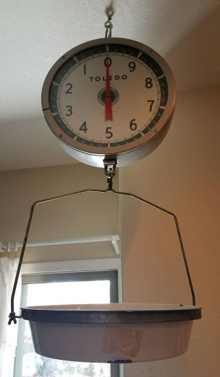 Antique Vintage 1952 Toledo Large Hanging Scale Model 2110 photo