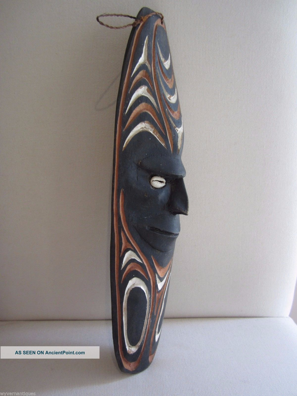 Papua Guinea Hand Carved Wooden Wall Mask (png Primitive Native Carving) Pacific Islands & Oceania photo