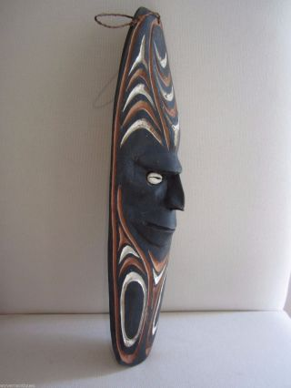 Papua Guinea Hand Carved Wooden Wall Mask (png Primitive Native Carving) photo