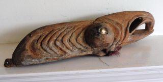 Antique Wooden Spirit Animal Mask Or Headdress,  Papua Guinea,  Interesting photo