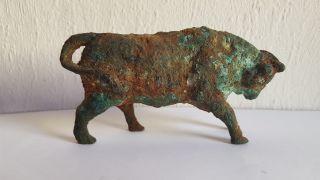 Ancient Bronze Roman Ox photo